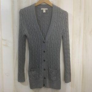 Banana Republic Gray V Neck Cardigan Sweater XS